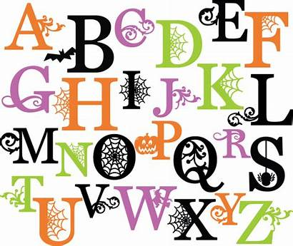Halloween Letters Alphabet Svg Clipart Letter Fonts