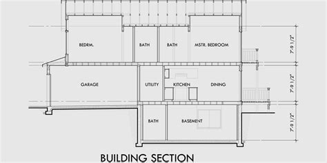 Narrow Lot House Plans With Basement, 10176