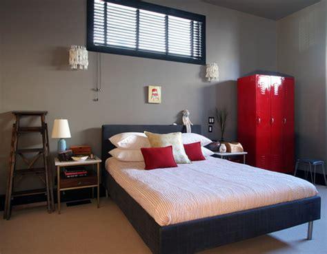 Lori Andrews Red Black White Grey Bedroom