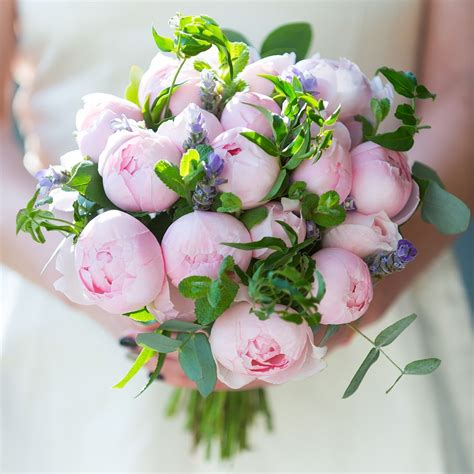 peony pink bridal bouquet wedding flowers  real