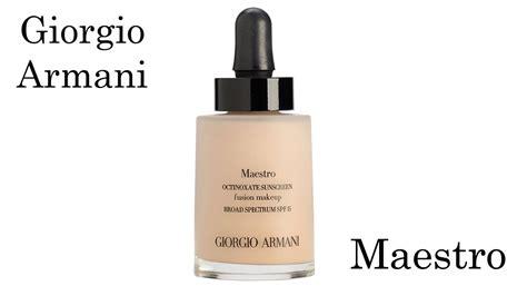 Harga Giorgio Armani Maestro Foundation giorgio armani maestro foundation review and application