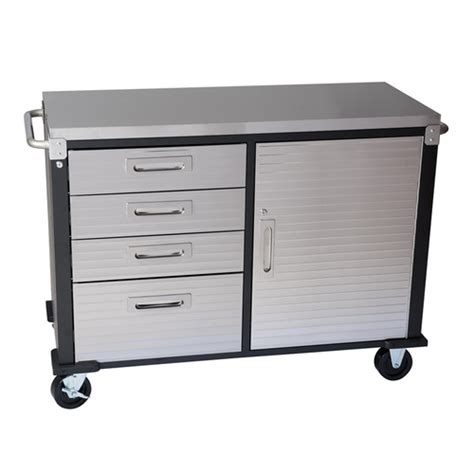 48 Inch Cabinet by 48 Inch 4 Drawer Stainless Steel Top Roll Cabinet From