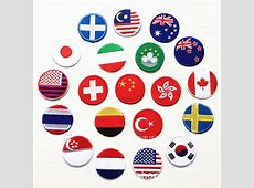 10pcs Countries flags full embroidered patches for clothes