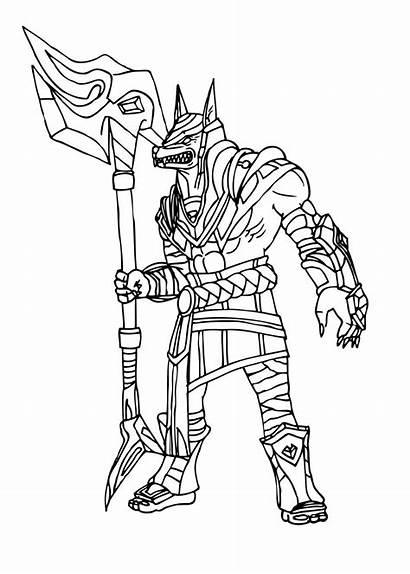 Legends League Champion Nasus Sketch Lol Coloring