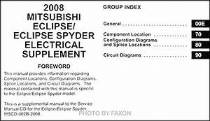 2008 Mitsubishi Eclipse  U0026 Spyder Wiring Diagram Manual