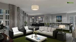 3d interior design 3d interior rendering interior design With interior design for living room and kitchen