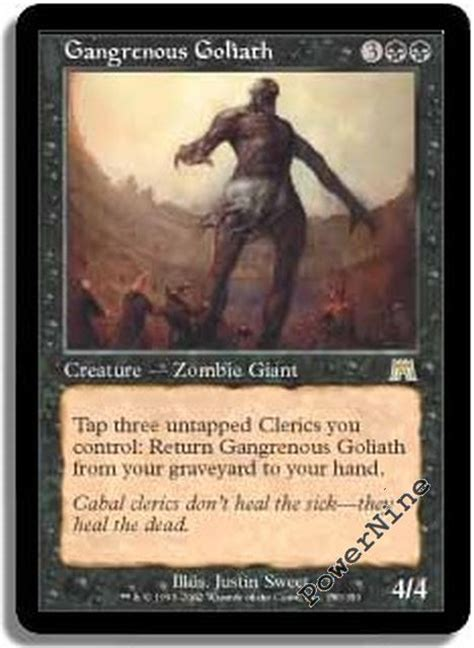 Mtg Reanimator Deck 2015 by 4 Gangrenous Goliath Onslaught Mtg Magic Black 4x