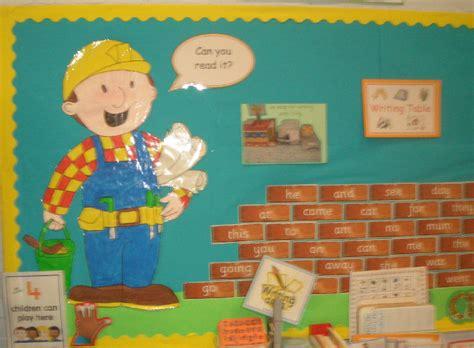 bob  builder key word wall classroom display photo