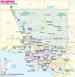 Los Angeles County California Map