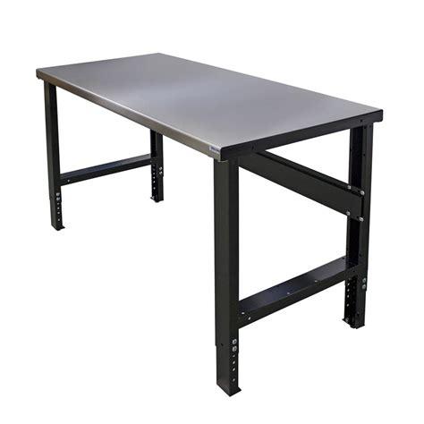 gladiator  ft hardwood top adjustable height workbench