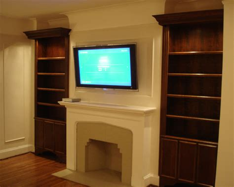 bookcases next to fireplace fireplace bookshelves