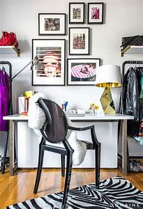 Office space of the day art wall chic decorista
