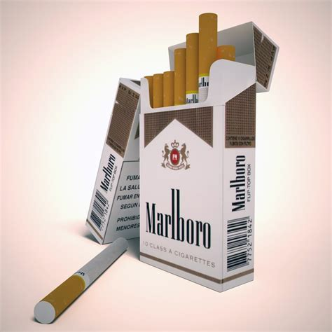 carton of marlboro lights marlboro lights cigarette pack 3d model max obj 3ds