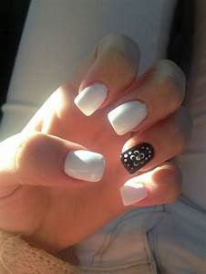 Black and White Acrylic Nails | Beauty♡ | Pinterest ...