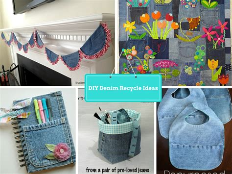 diy  ways  recycled clothing denim part