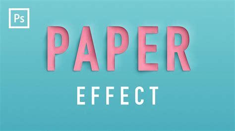 photoshop tutorials paper cutout text effect youtube