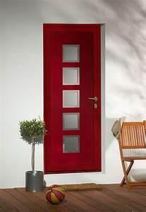 porte d39entree contemporaine en aluminium domeau concept With porte d entrée rouge