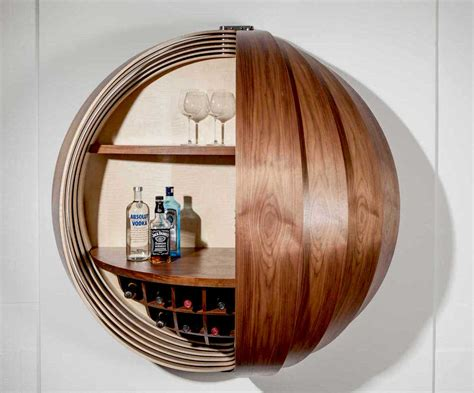 Wall Mounted Bar Cabinets For Home by Dime Spherical Drinks Cabinet By Splinter Works Homeli