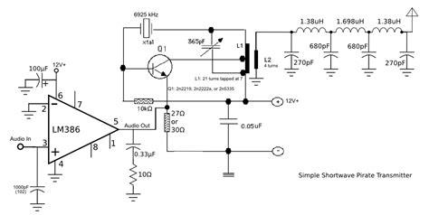 Simple Pirate Shortwave Transmitter Schematic Khz