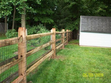 Backyard Fence Options by 3 Rail Split Rail Fencing Decorative With Wire Fence To