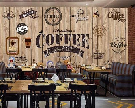 beibehang custom wallpaper wood shading retro coffee shop