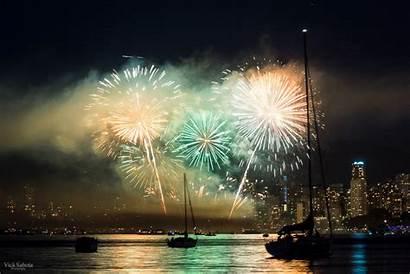 Fireworks Celebration Gifs Marina Bay Sands Vancouver