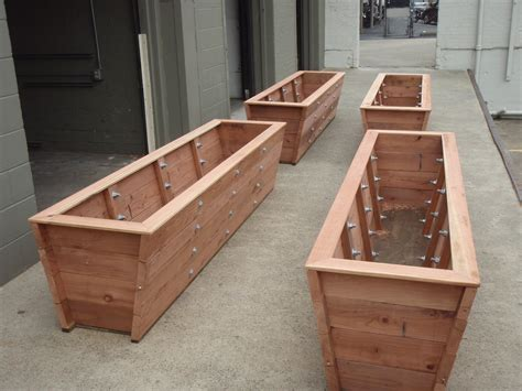 large planter box large redwood planter boxes made for bamboo trick