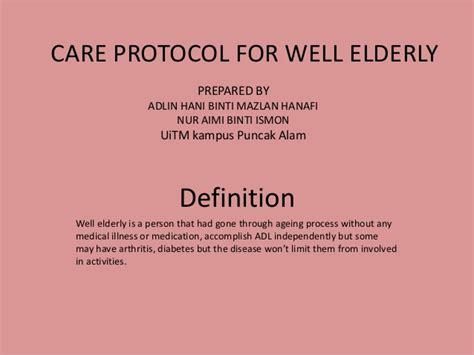 care protocol   elderly