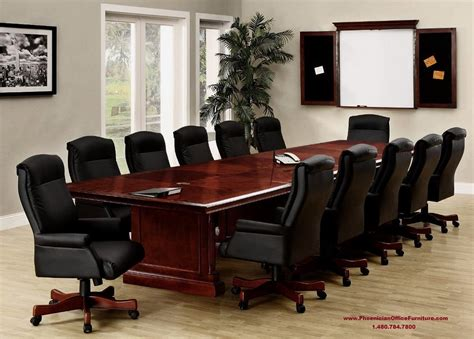 conference room table furniture 12 foot conference room table 10 high back black leather