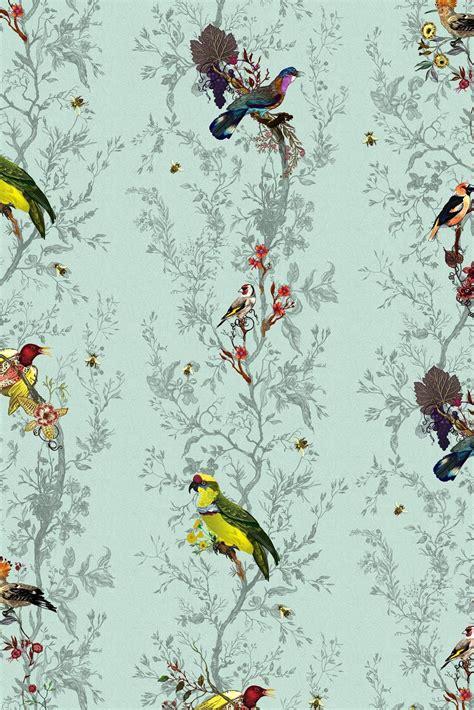 timorous beasties wallcoverings birds  bees wallpaper