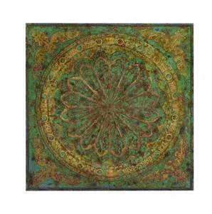 tuscan floral square metal wall