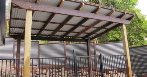 pergola  corrugated metal roof frame colorbond