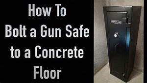 Bolting a gun safe to a concrete floor how to youtube for How to mount a safe to the floor