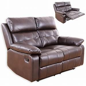 Sofa Mit Relaxfunktion : 2 sitzer sofa dunkelbraun kunstleder relaxfunktion ~ A.2002-acura-tl-radio.info Haus und Dekorationen