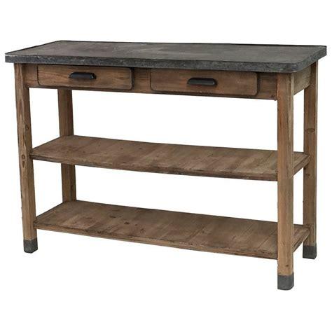 table console cuisine console table drapier bois zinc bureau cuisine salon