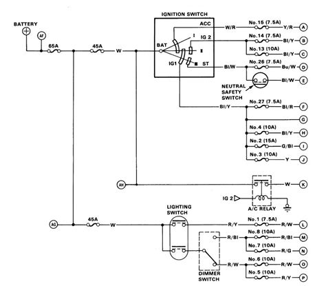 acura integra 1986 wiring diagrams power