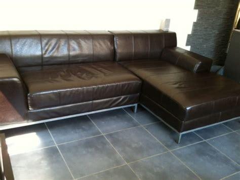 canapé d 39 angle kramfors 100 cuir méridienne petites