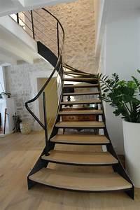 Escalier 1 4 Tournant Gauche : escalier 14 tournant gauche id es de collection d 39 escalierss ~ Dode.kayakingforconservation.com Idées de Décoration