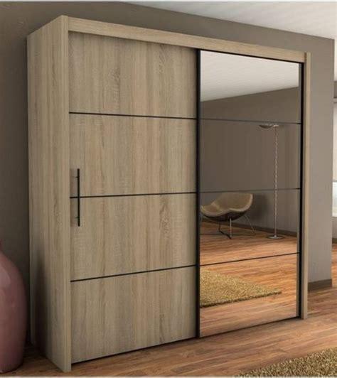 Sliding Glass Cupboard Doors by Inova Oak 2 Door Sliding Door Wardrobe Slider 200cm