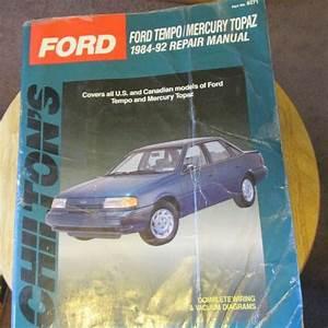 Find Chilton  8271 Ford Tempo  U0026 Mercury Topaz 1984