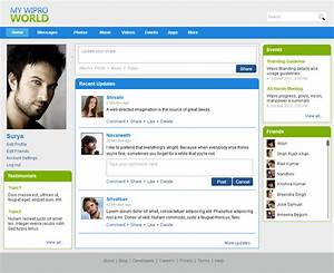 Funky social network website template ornament example for Social networking sites templates php