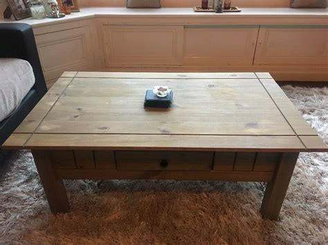 Solid pine table refurbished with farrow and ball painted legs, the top finished with an scandinavian light oil finish. Solid pine coffee table | in Didsbury, Manchester | Gumtree