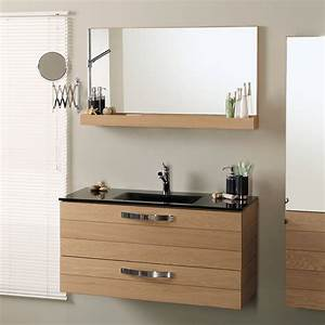 Meuble vasque avec miroir for Salle de bain design avec meuble salle de bain 60 cm castorama