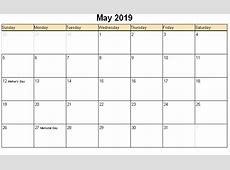 May 2019 Printable Calendar 2018 calendar printable
