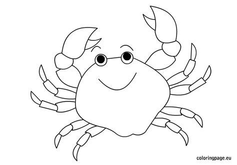 crab template crab coloring pages