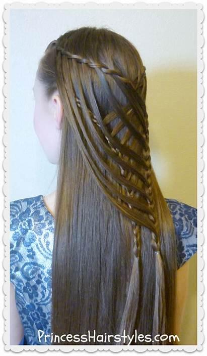 Mermaid Braid Cross Criss Hairstyle Waterfall Hair