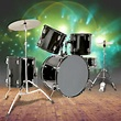 5 Piece Complete Adult Drum Set Cymbals Full Size Kit w ...