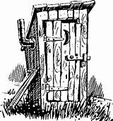 Outhouse Clipart Drawing Drawings Line Pencil Patterns Bathroom Coloring Pyrography Sketch Wood Burning Plans Country Adult Clip Sketches Primitive Library sketch template