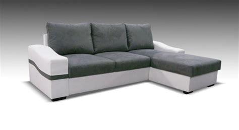h et h canapé canape d 39 angle à droite convertible oregon blanc gris