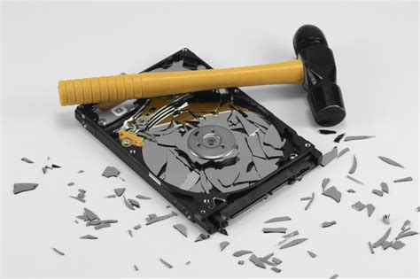 erasing degaussing  destroying hard drives